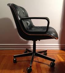 modern office chair leather. Vintage Pollock Desk Office Chair Knoll Mid Century Modern Leather