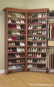 construct best shoe organizer for small closet wooden storage shelves