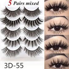 5 Pairs Multipack 3D Soft Mink Hair False Eyelashes Wispy ... - Vova