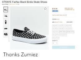 Zumiez Size Chart Straye Fairfax Black Birdie Skate Shoes Item 290408 Stash
