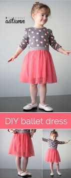 add a tulle skirt to a bought tee for an adorable ballet dress