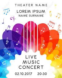 Concert Invite Template Music Concert Poster Design Vector Template For Flyer Banner