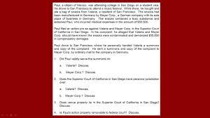 Bar Exam Essays Debrief Of The Essays From The July 2016 California Bar Exam Q1 Civil Procedure