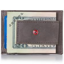 alpineswiss mens leather money clip magnet front pocket wallet slim id card case 0