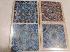 Decorative Tile Coasters Moroccan Tile coasters Travertine Coasters Stone Coasters 20