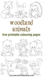 Our collection canstantly grows up. Woodland Animal Colouring Pages Messy Little Monster
