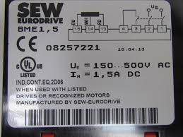 sew eurodrive 08257221 brake rectifier bme 1 5 500vac new ebay Eurodrive Wiring Diagrams sew eurodrive 08257221 brake rectifier bme 1 5 500vac new sew eurodrive motor wiring diagrams