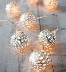 Round Warm White Christmas Lights 1 Set Warm White Led Night Lights Fairy String Round Silver