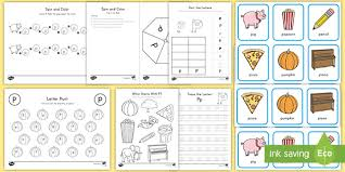 Letter p phonics recognition worksheet | woo! Letter P Activity Pack Teacher Made