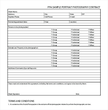 Portrait Photography Contract Form Forms Templates Order Template ...