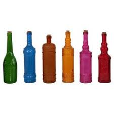 Decorative Colored Glass Bottles SHOWER Table Decos colorful glass bottles Inspirations 30