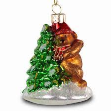 Sikora Bs210 Christbaumschmuck Glas Ornament Bär