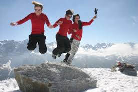 winter outdoor activities. Winter Three People Playing In Snow Activities. Outdoor Activities