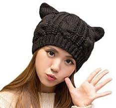 Cat Hat Crochet Pattern Enchanting Cat Ear Beanies Are So Cute These Are Made With Bulky Weight Yarn