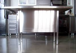 stainless steel work table kitchen island with butcher block top