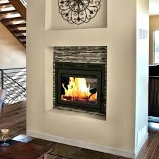 see through wood burning fireplace insert inserts multi sided mobile