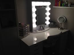 standing lighted mirror. the makeup vanity set with lighted mirror to help yourself a flawless face day. square decor fabulous home interior ideas standing