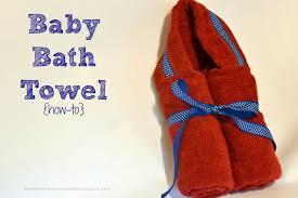 Three Gentlemen and a Lady: Baby Hooded Bath Towel Tutorial