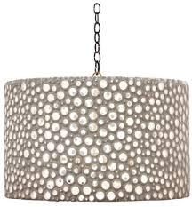 oly studio meri drum chandelier in white gold