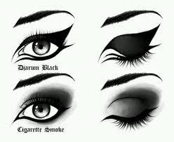 pin drawn makeup smokey eye 5