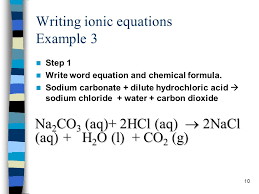 writing ionic equations example 3