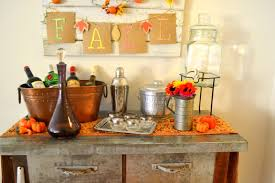 Fall Kitchen Decorating Falling For Seasonal Bar Decor