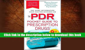 free pdr pocket guide to prescription s 9th edition physicians desk reference
