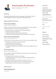 Dog Groomer Resume Pet Groomer Resume Sample Resumeviking Com