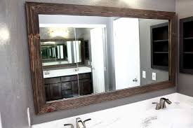 custom diy bathroom mirror frame