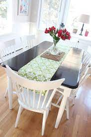 dining room table makeover