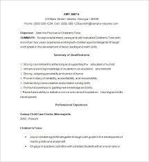 tutor resume examples