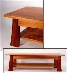 classic craftsman coffee table with shelf