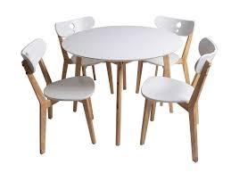 Ensemble Table 4 Chaises De Cuisine Nadia Coloris Blancchêne