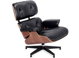 replica eames lounge chair and ottoman black. replica eames lounge chair (chair only) black waxed aniline and ottoman black