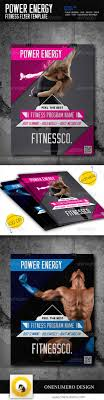 17 best images about gym advertisement business power energy fitness flyer template
