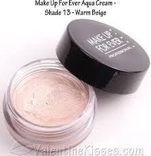 make up for ever aqua cream 13 warm beige