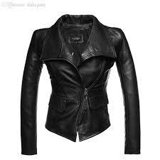 2018 whole genuine leather jacket women sheepskin zipper jaqueta de couro womens coats and jackets winter 2016 black leather jacket from bida jany