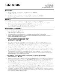Education Attorney Sample Resume