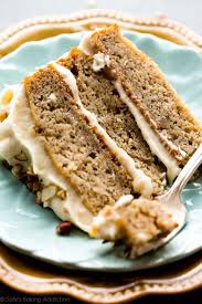 Banana Cake With Brown Butter Cream Cheese Frosting Sallys Baking