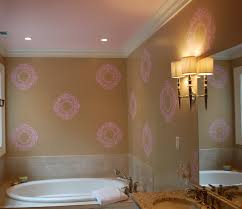 Pink Bedroom Paint Wall Paint Stencils For Bathdrooms With Romantic Pink Wall Spray