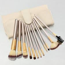 12pcs makeup brushes set with pu bag foundation eyeshadow in south africa