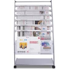 newspaper rack for office. Deli 9303 Magazine Newspaper Rack Racks In The Office Floor Information Display For A