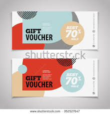 coupon design gift voucher certificate coupon design template stock illustration