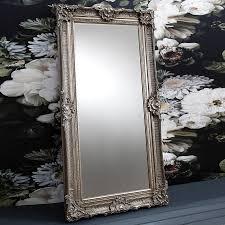 ornate antique silver floor standing mirror silver floor mirror46 mirror