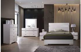 white modern bedroom sets. Bianca White Lacquer Modern Bed Bedroom Sets