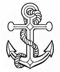 anchor coloring page image