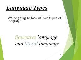 literal language language types figurative language and literal language