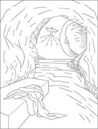 Small Picture Easter Bible Coloring page Simon carries Jesuss cross