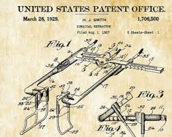 surgical instrument patent 1902 doctor office decor. Perfect Office Surgical Retractor Patent Print  Medical Art Doctor Office Decor Nurse  Gift Surgeon Vintage Intended Instrument 1902 Decor R