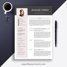 Best Selling Resume 2020 Cover Letter Professional Cv Template Word Resume Editable Resume Modern Creative Resume 1 3 Page Job Winning Resume